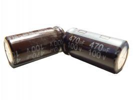 kondenzátor 470uF/100V 105°C (hnědý)