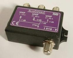 Slučovač hybridní VHF+UHF1+UHF2