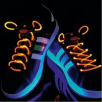 Svítící LED tkaničky - oranžové