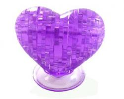 3D crystal puzzle - srdce