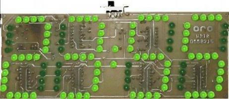 Digitální hodiny LED zelené - stavebnice