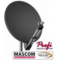 MASCOM PROFI80AL satelitní parabola - antracit