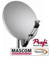 MASCOM PROFI80AL satelitní parabola - bílá