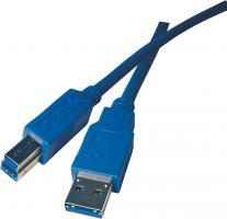 USB kabel 3.0 A vidlice - B vidlice 2m