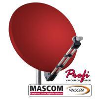 MASCOM PROFI85AL satelitní parabola - červená