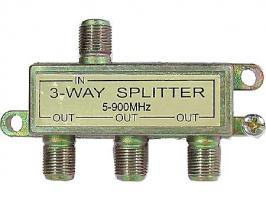 Rozbočovač 3x TV-F konektor