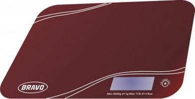 BRAVO B-5061 kuchyňská váha červená