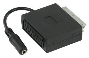 Adaptér SCART-SCART se stereo audio zástrčkou