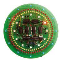 CMOS kruhové hodiny - stavebnice