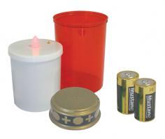 LED hřbitovní svíčka + baterie