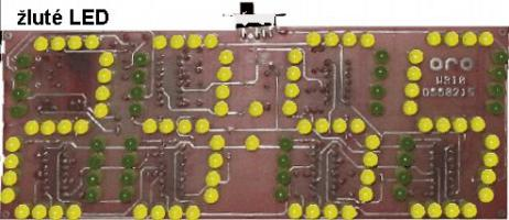 Digitální hodiny LED žluté - stavebnice