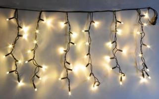 LED PROFI jiskřící závěs - teplá bílá