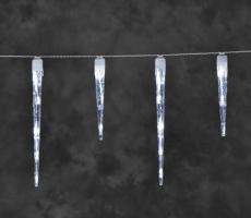 LED dekorativní rampouchy 16ks - studená bílá