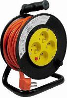 PVC prodlužovací kabel na bubnu - 4 zásuvky 20m