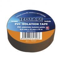 Izolační páska PVC hnědá