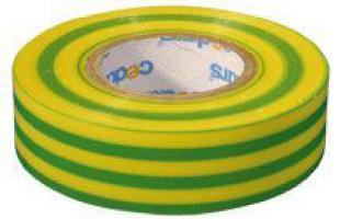 Izolační páska PVC zeleno-žlutá 19/10m