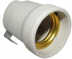 Objímka E27 keramická s bočním úchytem