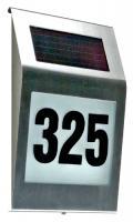 Domovní číslo se solárním osvětlením