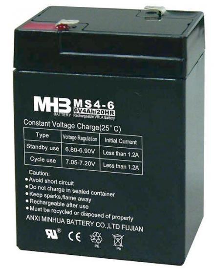 Gelová baterie MHB 6V / 4Ah