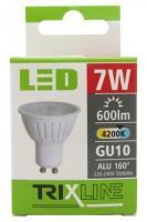 TRIXLINE žárovka LED 7W GU10/230V denní bílá