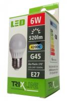 TRIXLINE žárovka LED 6W E27/230V denní bílá