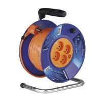 PVC oranžový prodlužovací kabel na bubnu - 4 zásuvky 50m