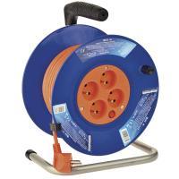 PVC reflexní prodlužovací kabel na bubnu - 4 zásuvky 25m