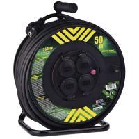 Gumový prodlužovací kabel na bubnu - 4 zásuvky 50m 2,5mm2