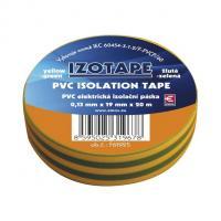 Izolační páska PVC zeleno-žlutá 19/20m