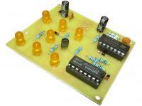 Elektronická hrací kostka žlutá - stavebnice