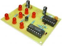 Elektronická hrací kostka červená - stavebnice
