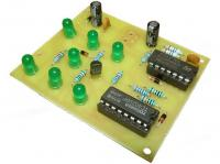 Elektronická hrací kostka zelená - stavebnice
