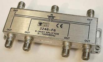 Rozbočovač 6xTV - F konektor