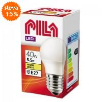 PILA LED žárovka E27/230V 5,5W teplá bílá lustrová