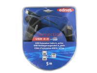 USB 2.0 aktivní prodlužovací kabel 5m